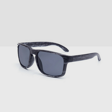 Linder Wooden Gray Textured Sunglasses - Grey