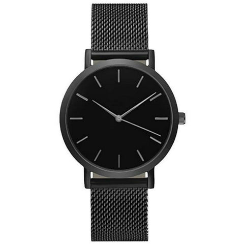Linder Vintage Inspired Mesh Strap Women Watch in Black