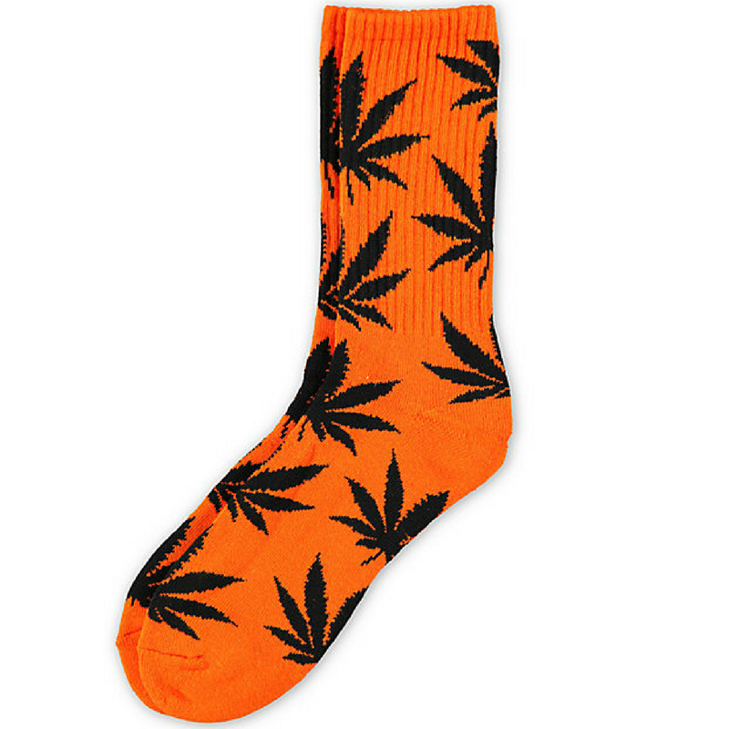 5 Pairs Huf Canister Leisure Socks-Black Light Green