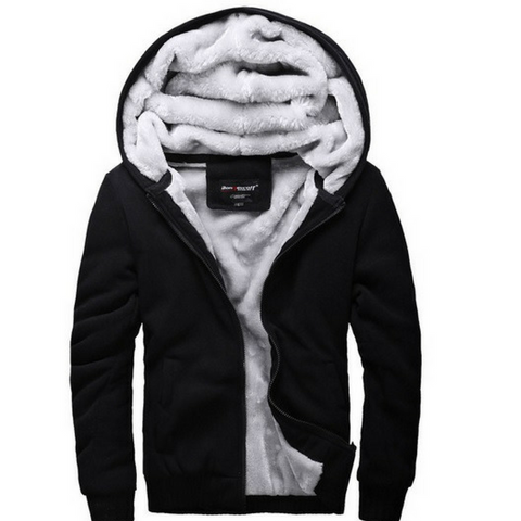 Black Winter Hooded Jacket