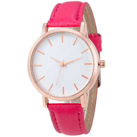 LINDER DESIGN Metro Leather Watch in Pink