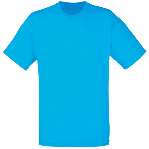 Men's Cotton Crew Neck T-shirt Light Blue