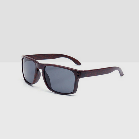 Linder Wooden Coffee Textured Sunglasses - Grey