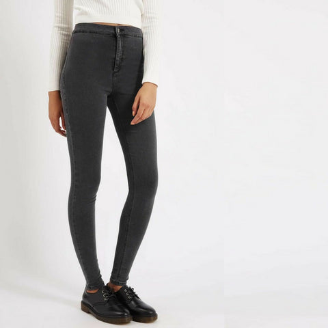 LINDER High Waisted Skinny Jeans in Grey