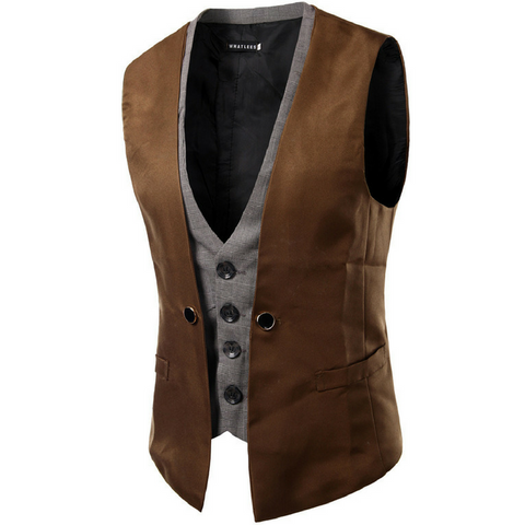 Two piece waistcoat Brown