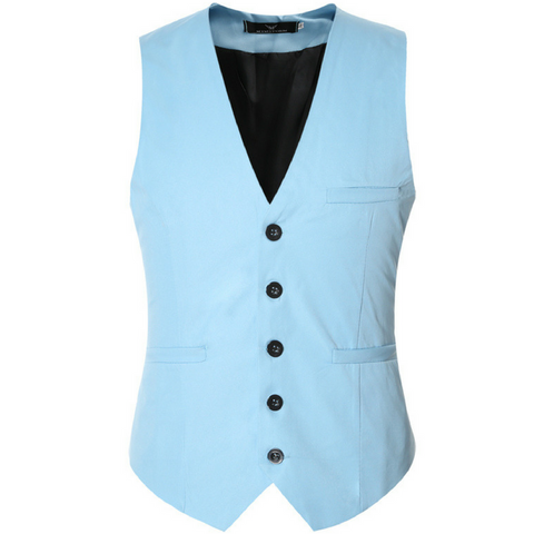 Colored Waistcoat Light Blue
