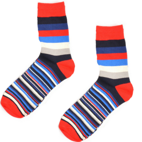 5 Pairs The Techno Socks -Red