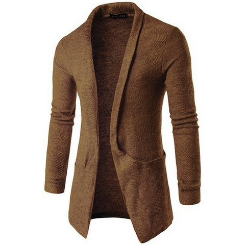 Ultimate Lightweight Shawl Cardigan In Brown