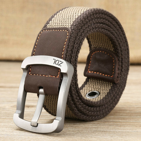 Casual Straps Canvas Belt Brown
