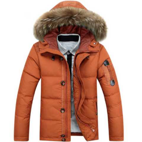 Winter Parka in Orange