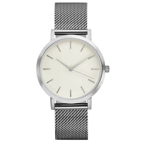 Linder Vintage Inspired Mesh Strap Women Watch in Silver