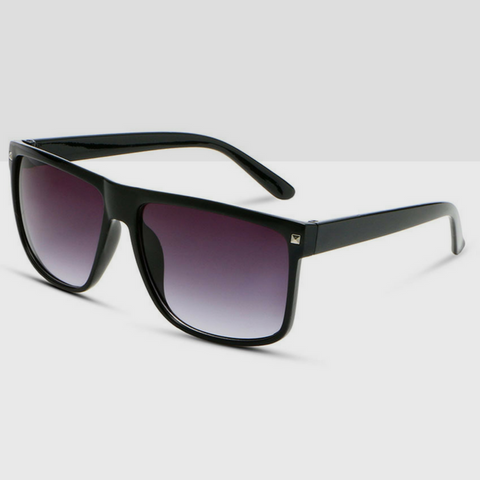 Oversized Wayfarer Sunglasses in Black