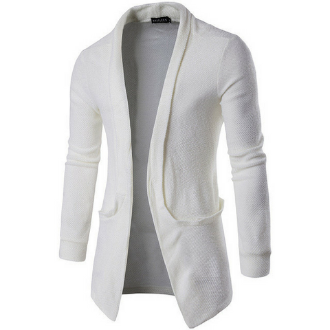 Ultimate Lightweight Shawl Cardigan In White