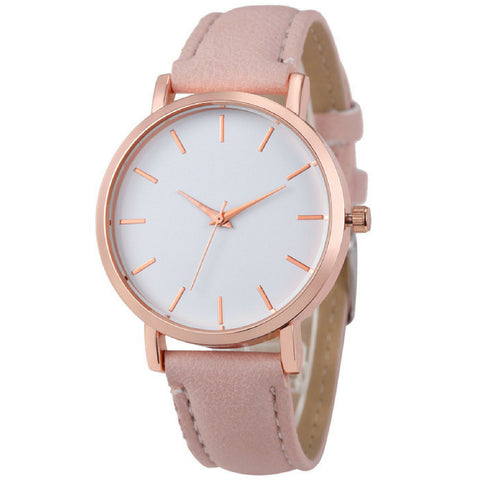LINDER DESIGN Metro Leather Watch in Blossom Pink