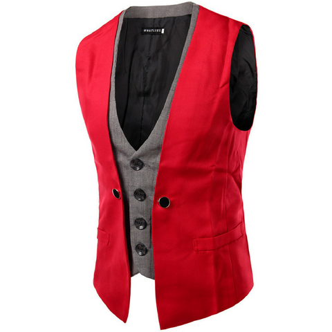Two piece waistcoat Red