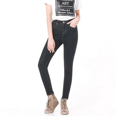 High Waisted Premium Jeans in Black