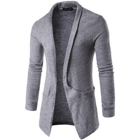 Ultimate Lightweight Shawl Cardigan In Grey
