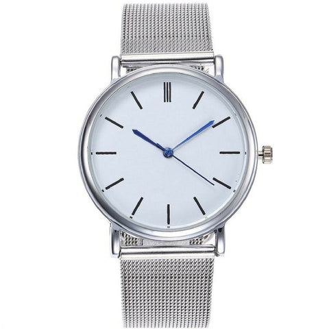 Linder Classic Inspired Mesh Strap Women Watch in Silver