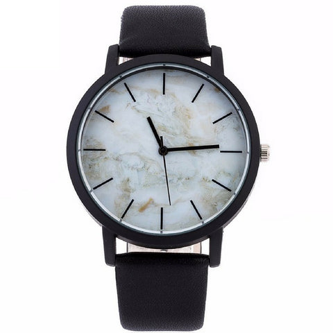 LINDER DESIGN Marble Watch in White
