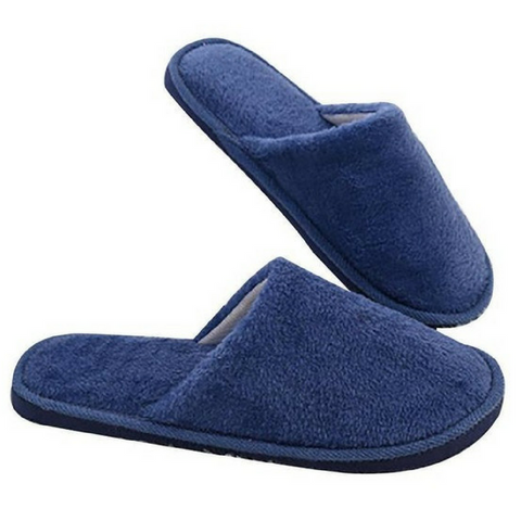 Cotton Quilt Slipper in Navy