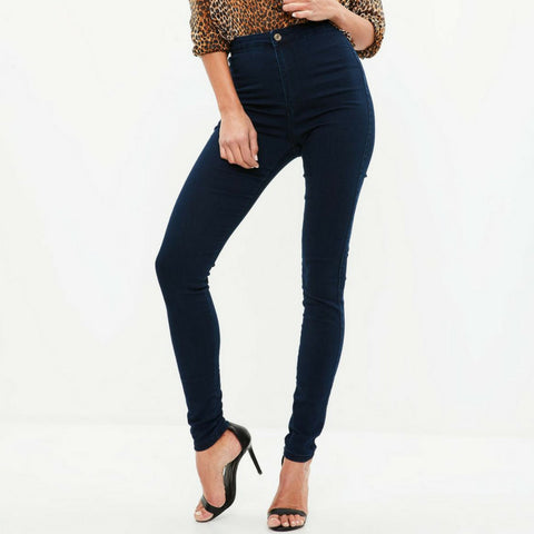 LINDER High Waisted Skinny Jeans in Navy