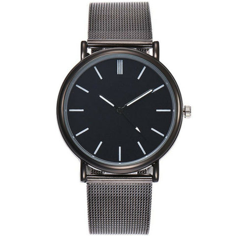 Linder Classic Inspired Mesh Strap Women Watch in Black