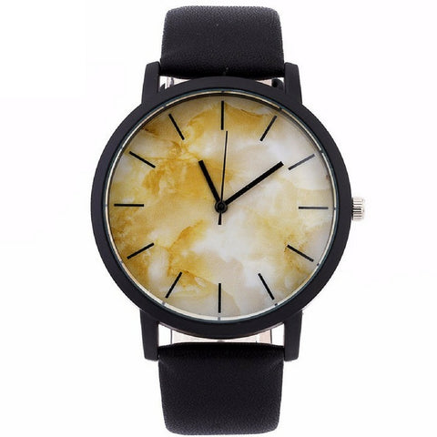 LINDER DESIGN Marble Watch in Golden Marble