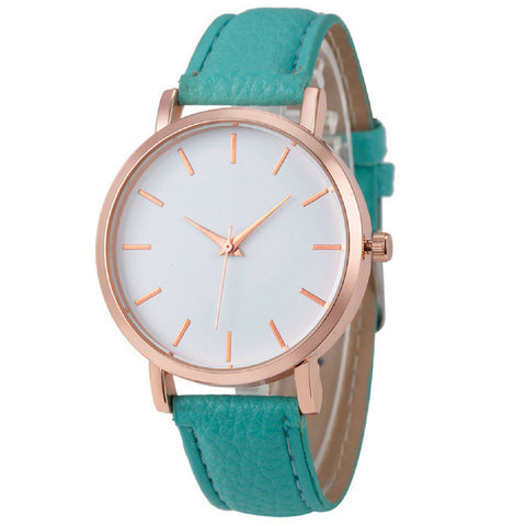 LINDER DESIGN Metro Leather Watch in Green