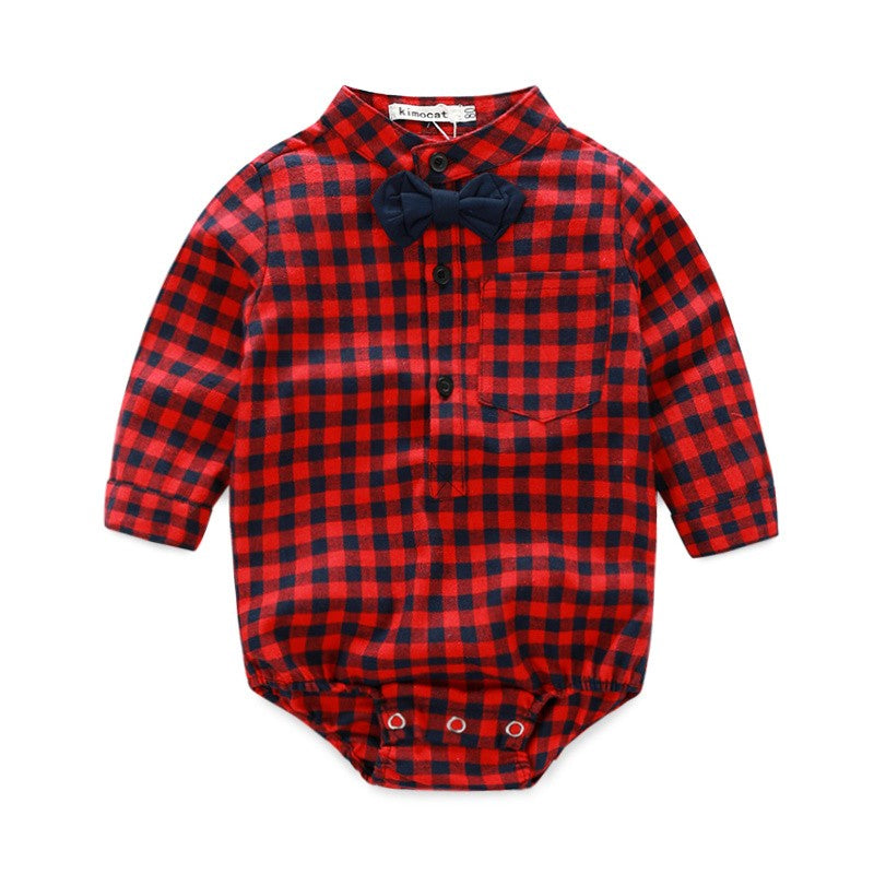 Linder Baby Boy Newborn Rompers and Jeans Red Black