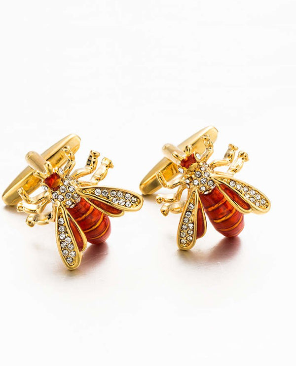 Copper Bee Luxury Cufflinks in Gold Plate