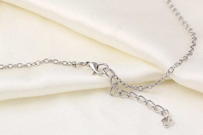 Infinity Cross Necklaces Long Silver Chain