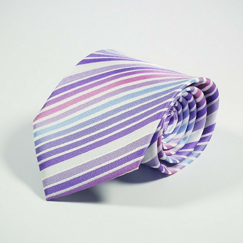 Men's Tie Striped Rainbow