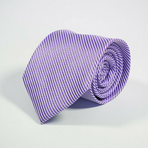 Men's Tie Stripes Lavender