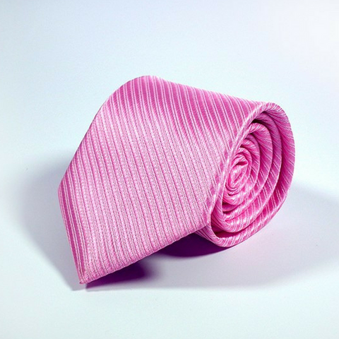 Men's Tie Stripe Linen Pink