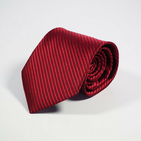 Men's Tie Stripe Linen Ruby