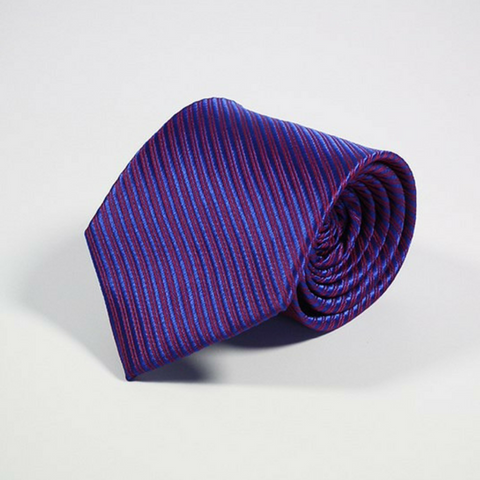 Men's Tie Stripes Navy Cobalt
