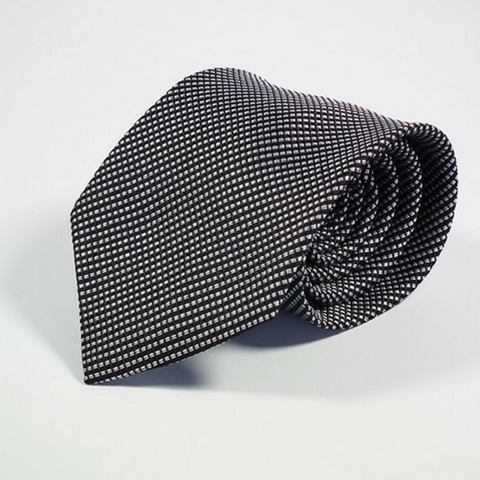 Men's Tie Dotted Black and White