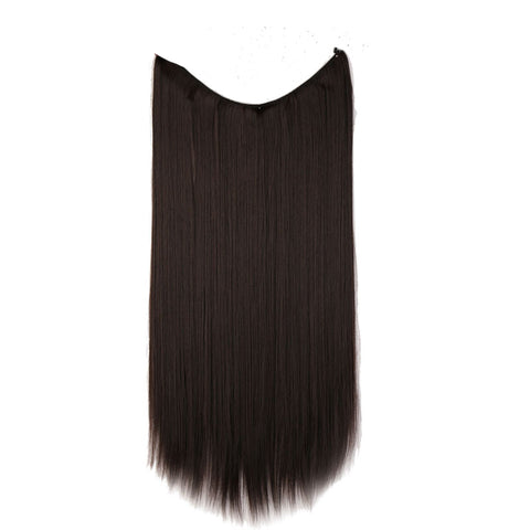 Flip-in Hair Extension - Straight Dark Brown