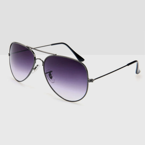 Polarised Aviator Sunglasses in Faded Black