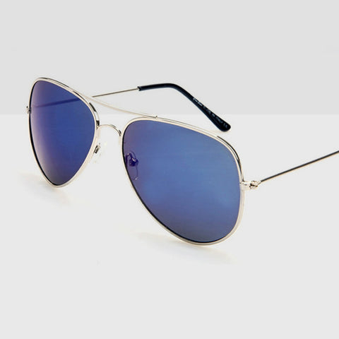 Polarised Aviator Sunglasses in Deep Blue