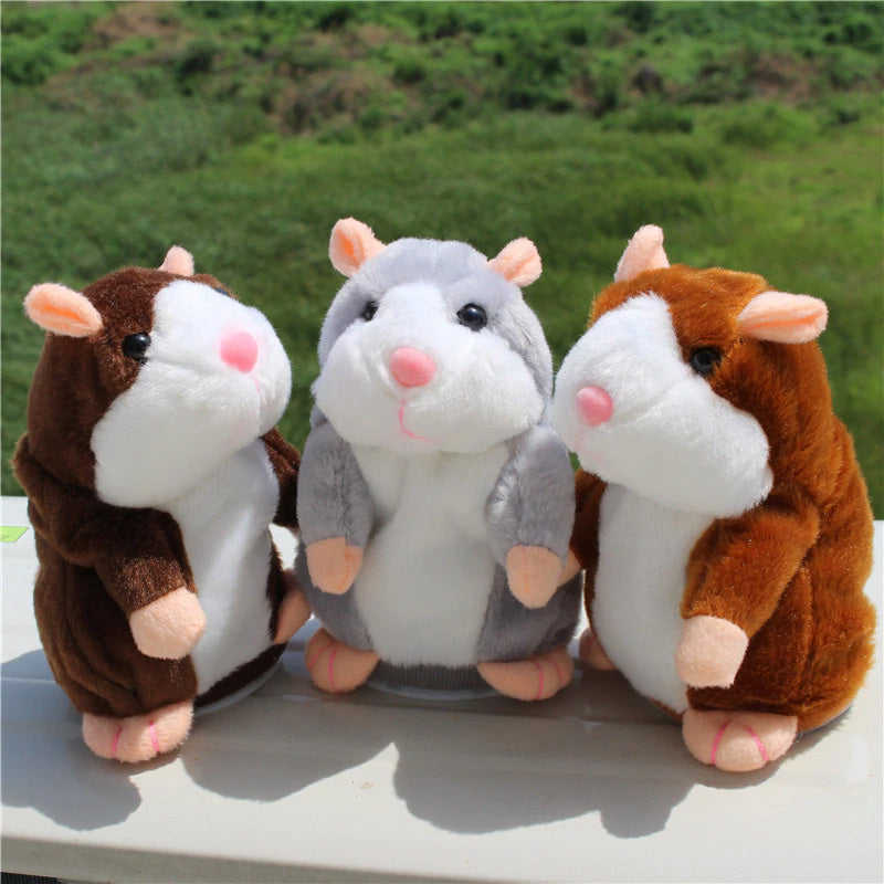 Little Talking Hamster Plush Toy in Light Brown