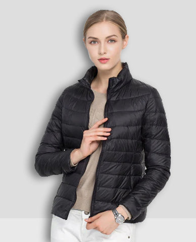 Linder Lightweight Padded Jacket in Black