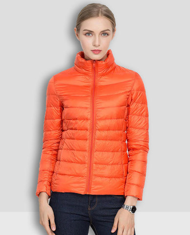 Linder Lightweight Padded Jacket in Orange