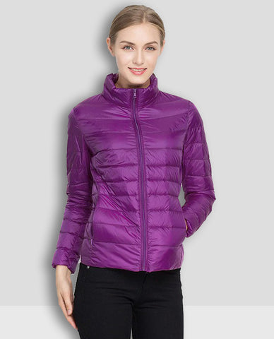 Linder Lightweight Padded Jacket in Purple
