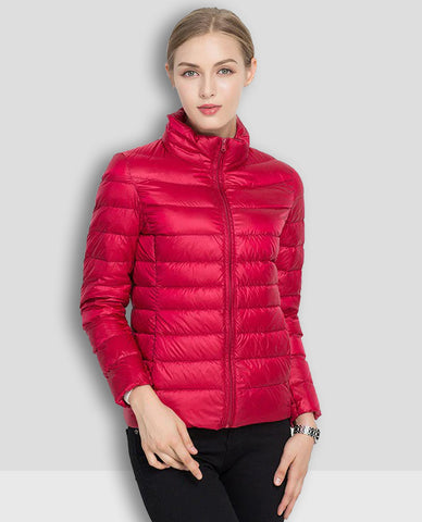 Linder Lightweight Padded Jacket in Red