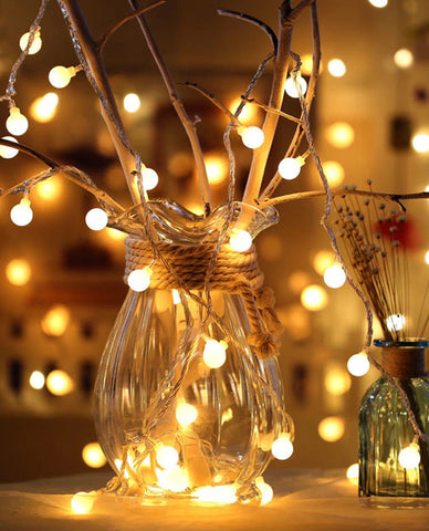LED Ball String Lights for Christmas Tree