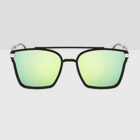 Polarized Cool Butterfly Fashion Sunglasses with Black Frame-Green