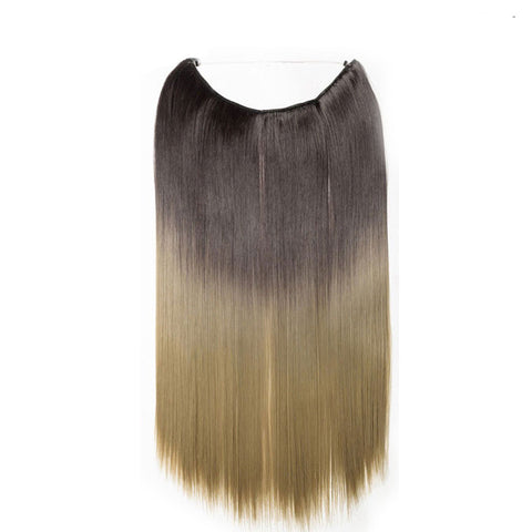 Flip-in Hair Extension - Light brown to ash blonde