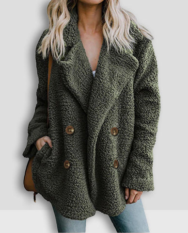 Linder Teddy Oversized Coat in Green