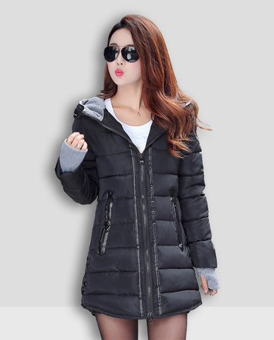 Linder Longline Padded Jacket in Black